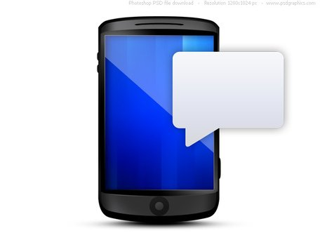 Cellphone clipart blue. Free with text message