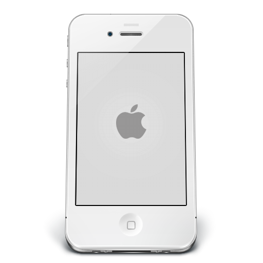 Cellphone icon png white. Iphone apple iconset musett