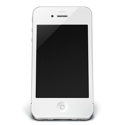 Cellphone icon white png. Iphone off iconset musett