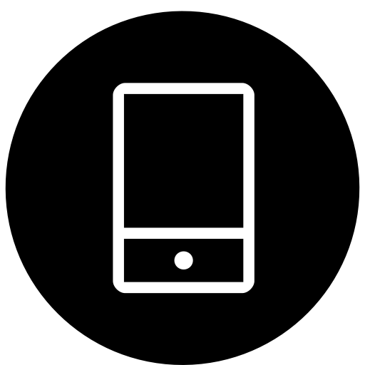 Cellphone icon white png. Ico