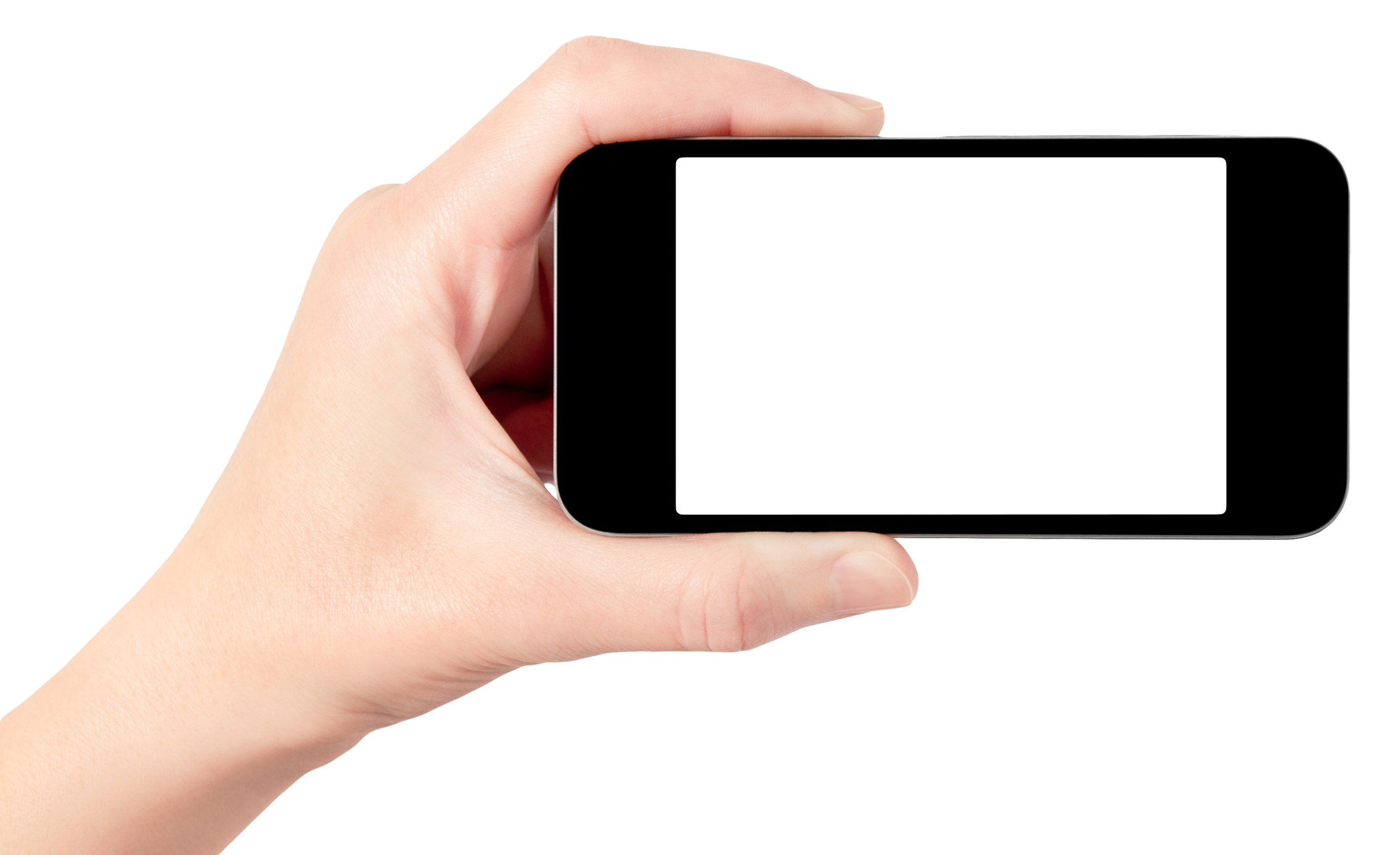 Cellphone in hand png. Holding smartphone mobile image