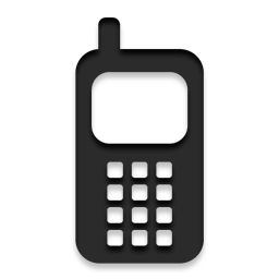 Cell phone logo png. Early images high contrast