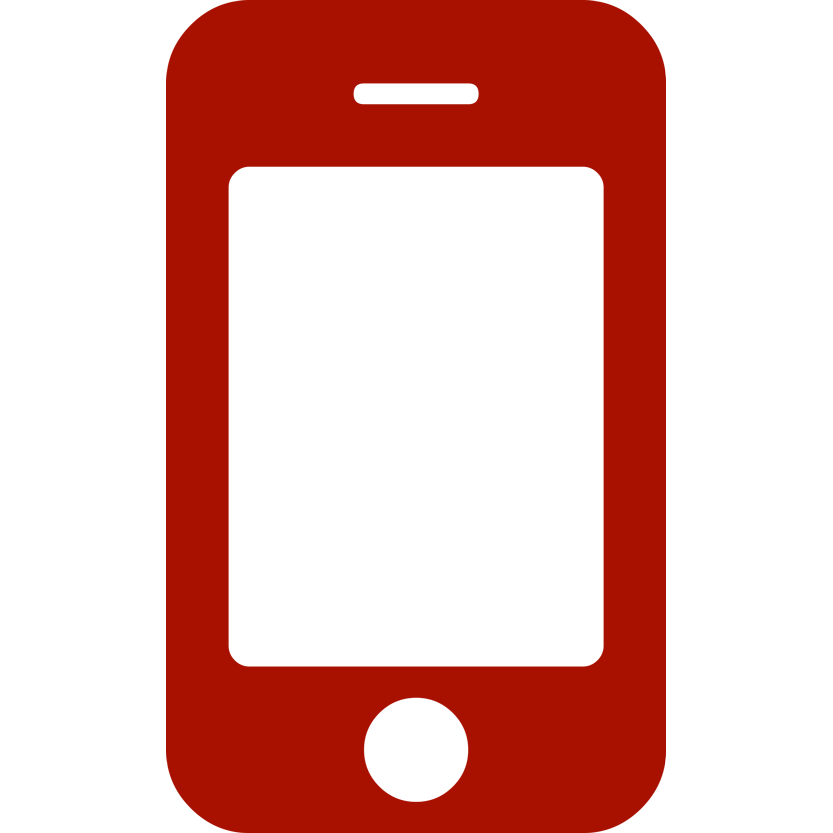 Cellphone logo png. Red mobile image