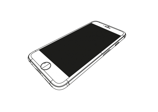 Cellphone transparent prototype. Lci in mobile phone