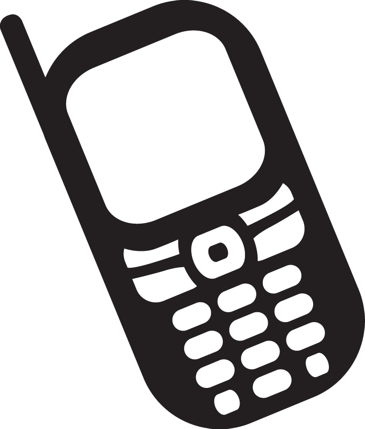 Phone clipart mobile phone user. Cell icon