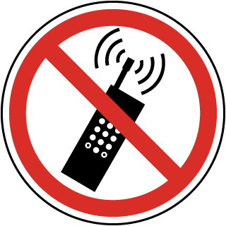 Cells clipart mobile phone. No cell signs turn