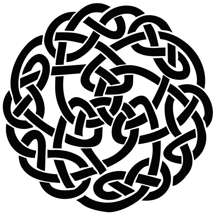 drawing knots celtic shield
