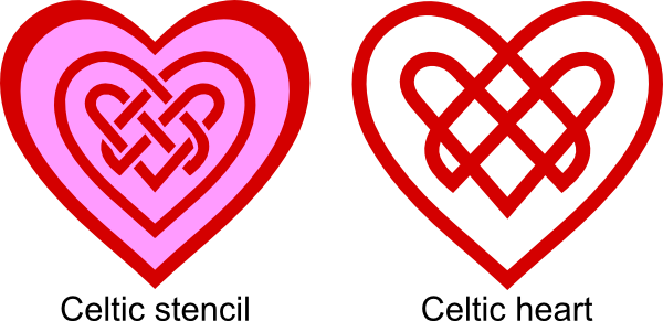 Link svg two. Celtic knot heart files