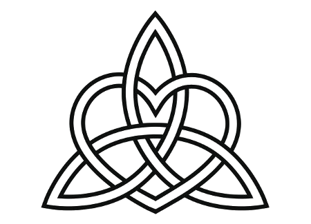 Celtic love knot png. Heart triquetra tattoo transparency