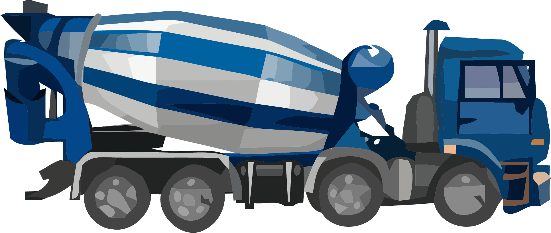 Cement truck png. Basic blue clipart clipartly