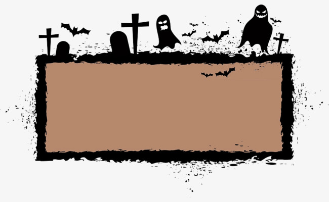 Cemetery clipart cartoon. Brown border texture png