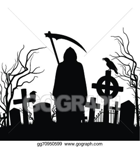 Cemetery clipart scary. Background free vector art