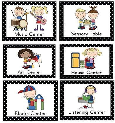 Centers clipart center time. Preschool kind of letters