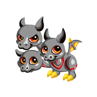 Cerberus transparent baby. Image png dragon story