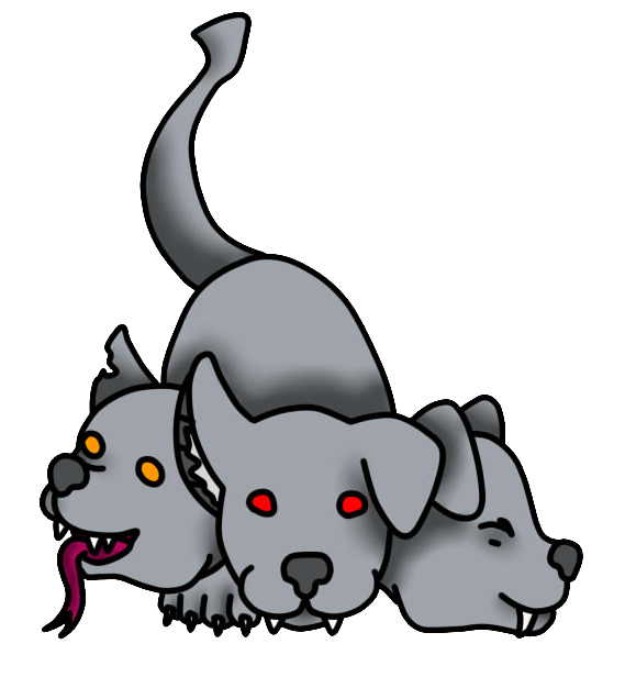 Cerberus transparent baby. Trade by spottycows on