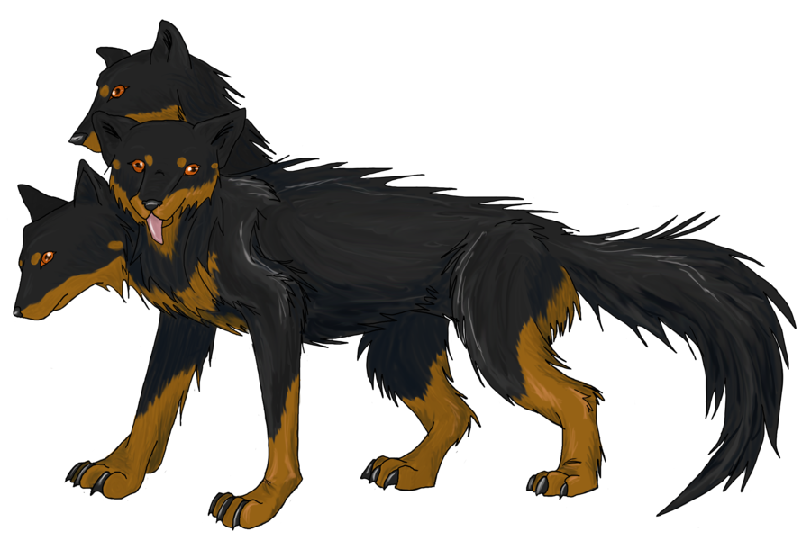 Cerberus transparent background. Rayvncrescent by icypheonix on