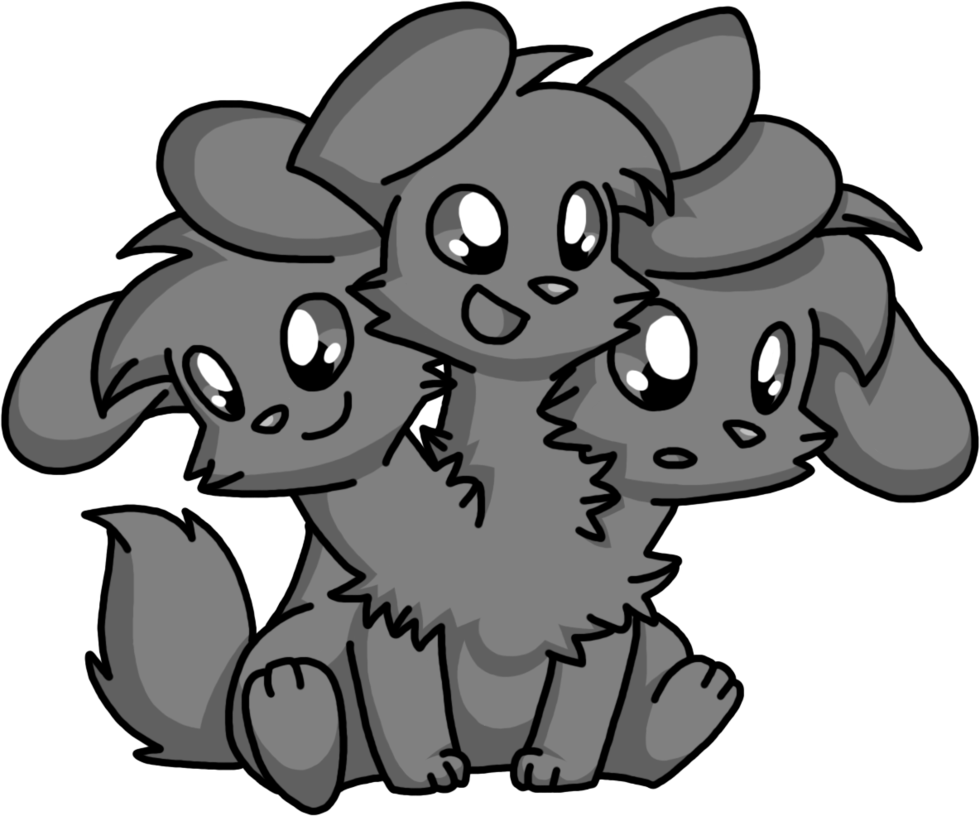 Cerberus transparent black and white. Base free to use
