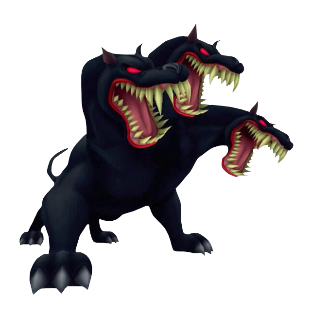 Cerberus transparent cartoon. Kingdom hearts insider