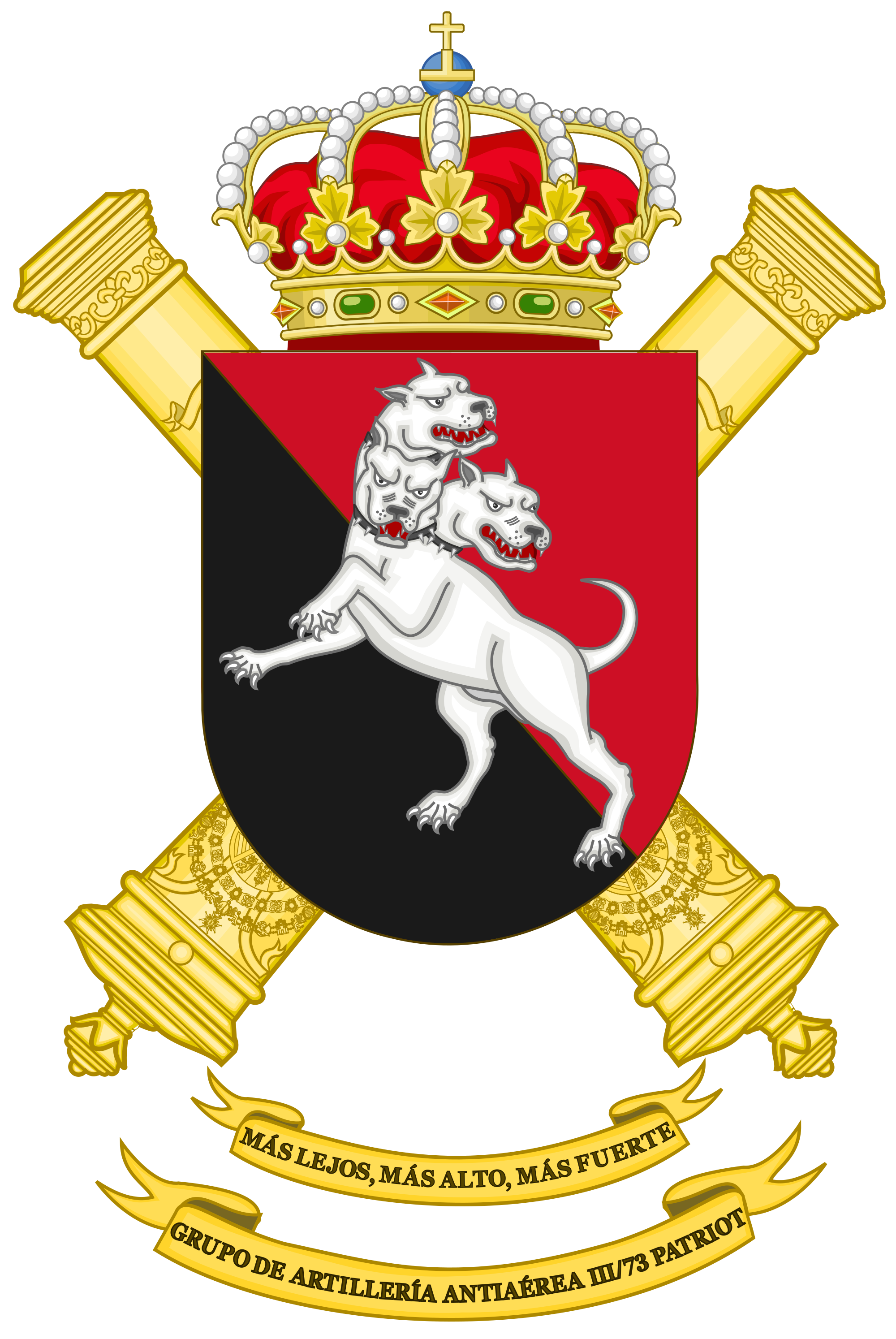Cerberus vector coat arm. File of arms the
