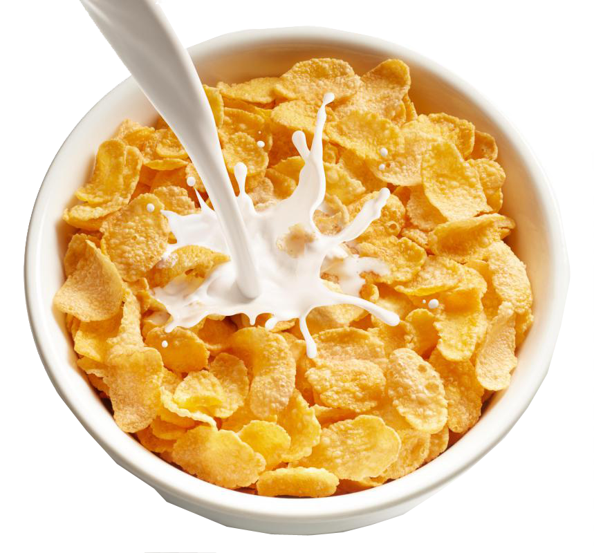 transparent cereal frosted flakes
