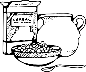 Cereal box drawings png. And milk clip art