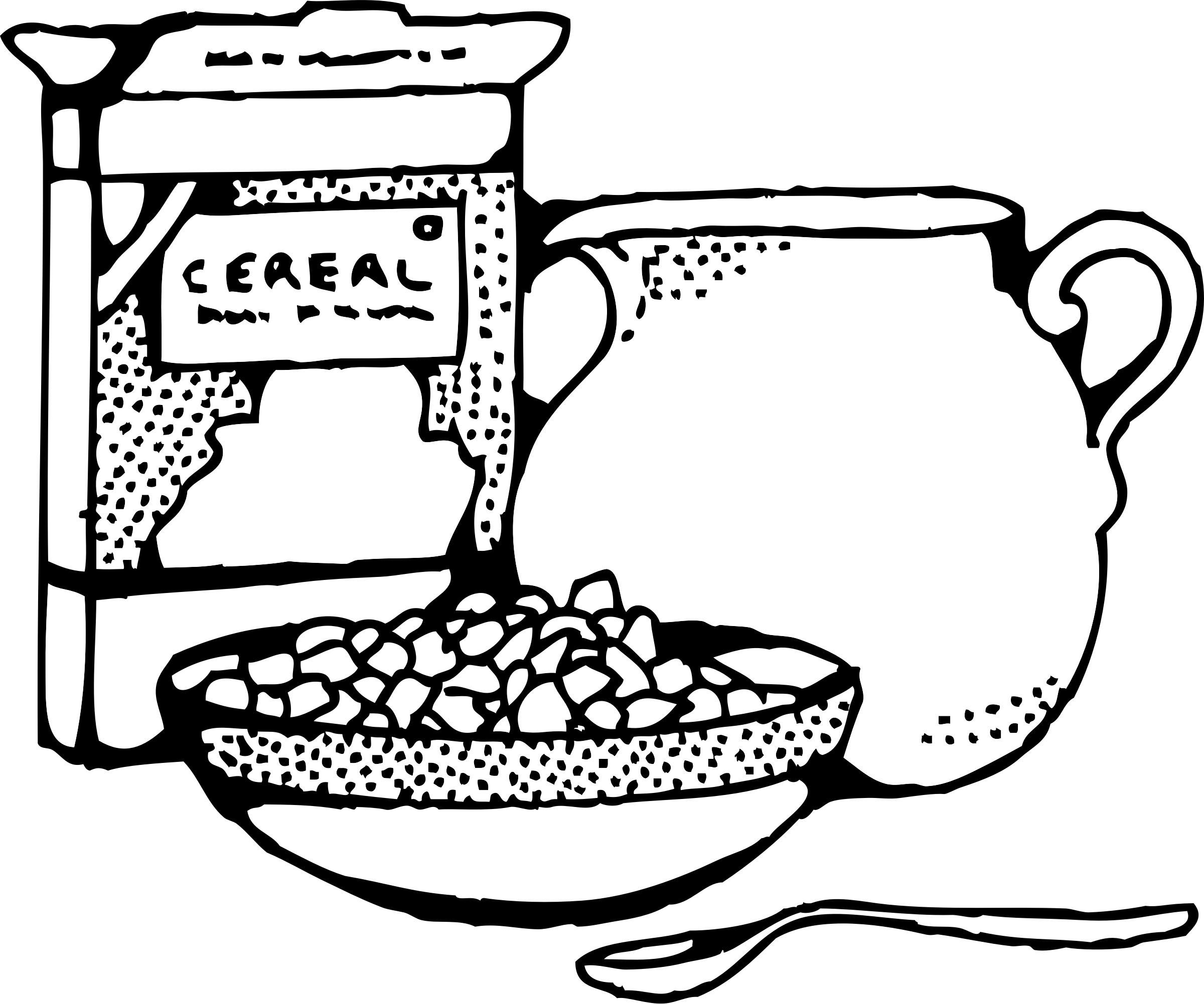 Cereal box drawings png. And milk icons free