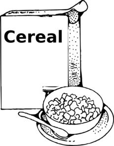 Cereal clipart. Black and white
