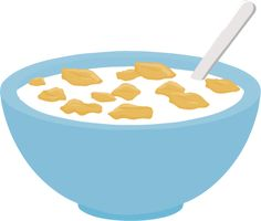 Clip art of breakfast. Cereal clipart banner library stock