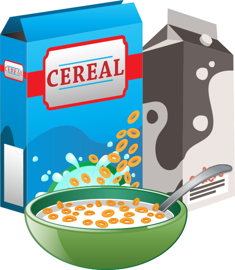 Cereal clipart. Transparent free woman eating