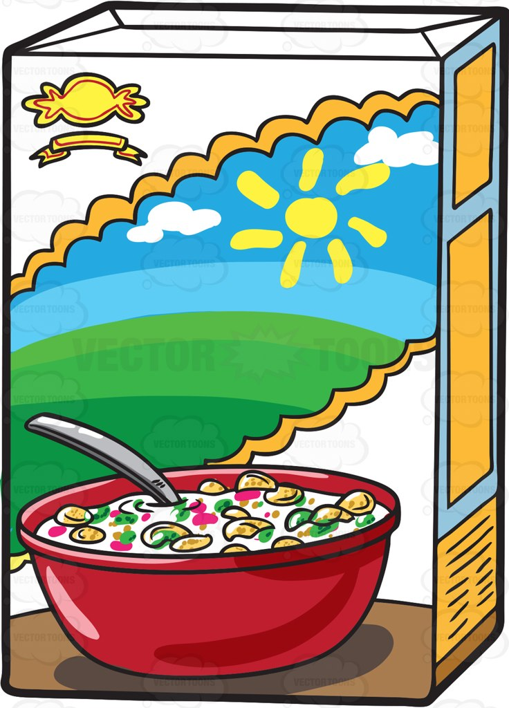 Vector toons a box. Cereal clipart vector free stock