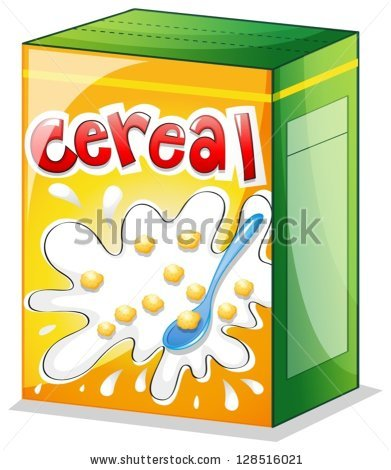 Cereal clipart carton. Illustration on white background jpg royalty free library
