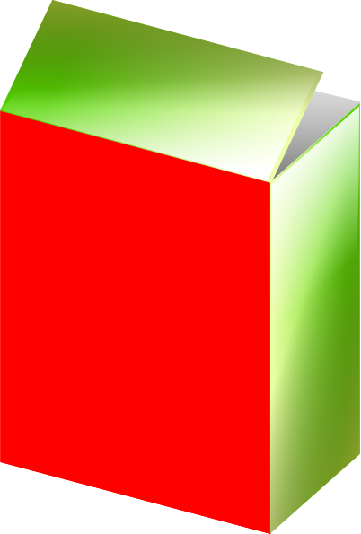 Red green clip art. Cereal clipart rectangular box png transparent library