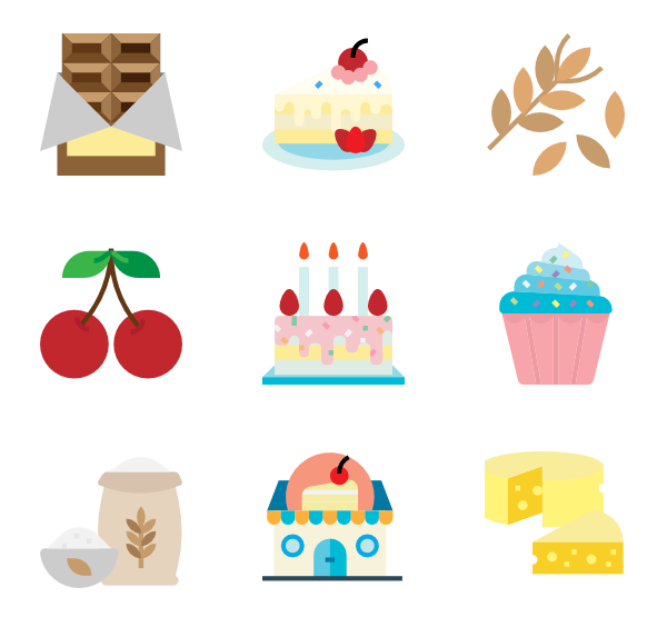 Cereal clipart tree. Icons free vector bakery