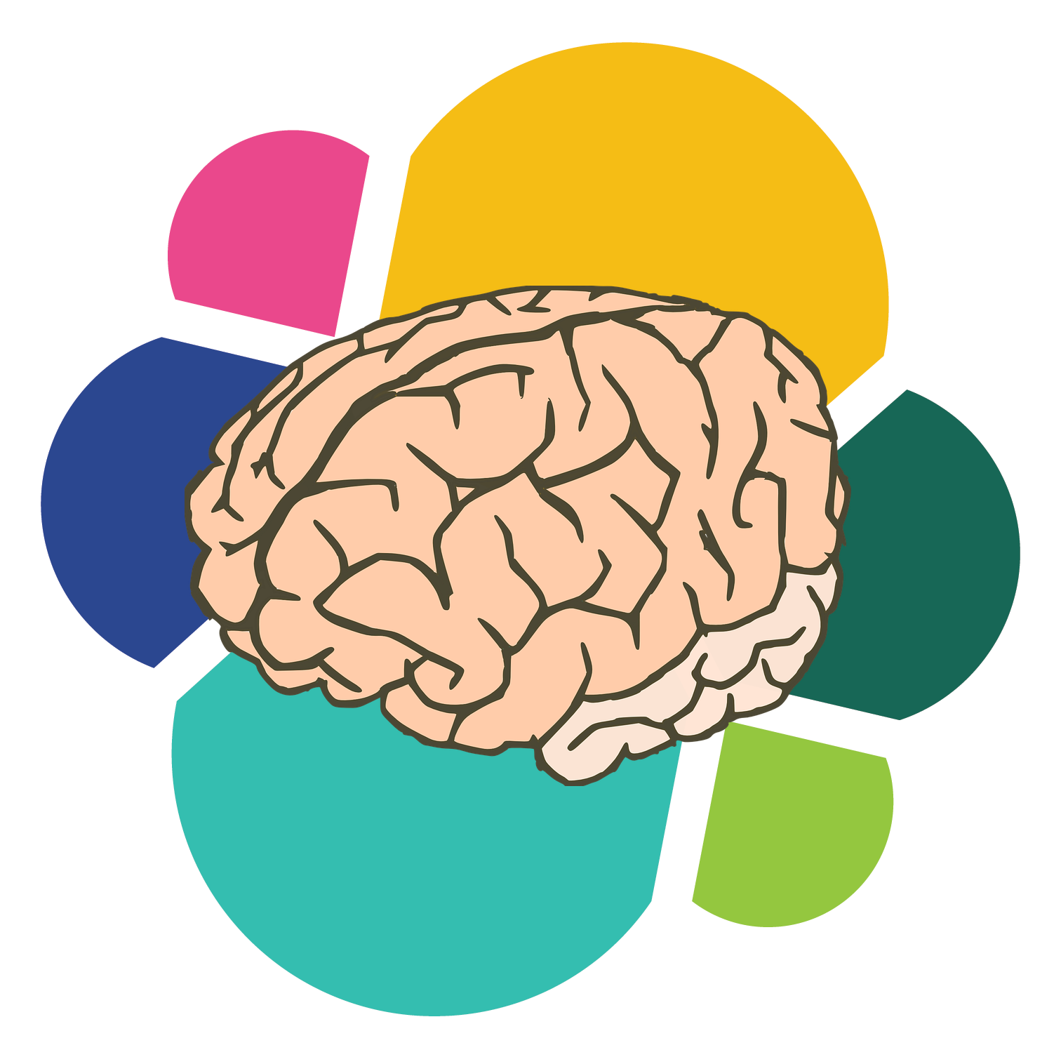 Cerebro vector. Collection of free coextended