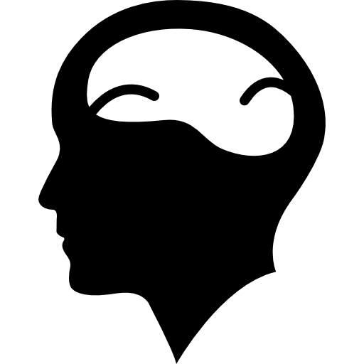 Cerebro vector brain. Bald man head with