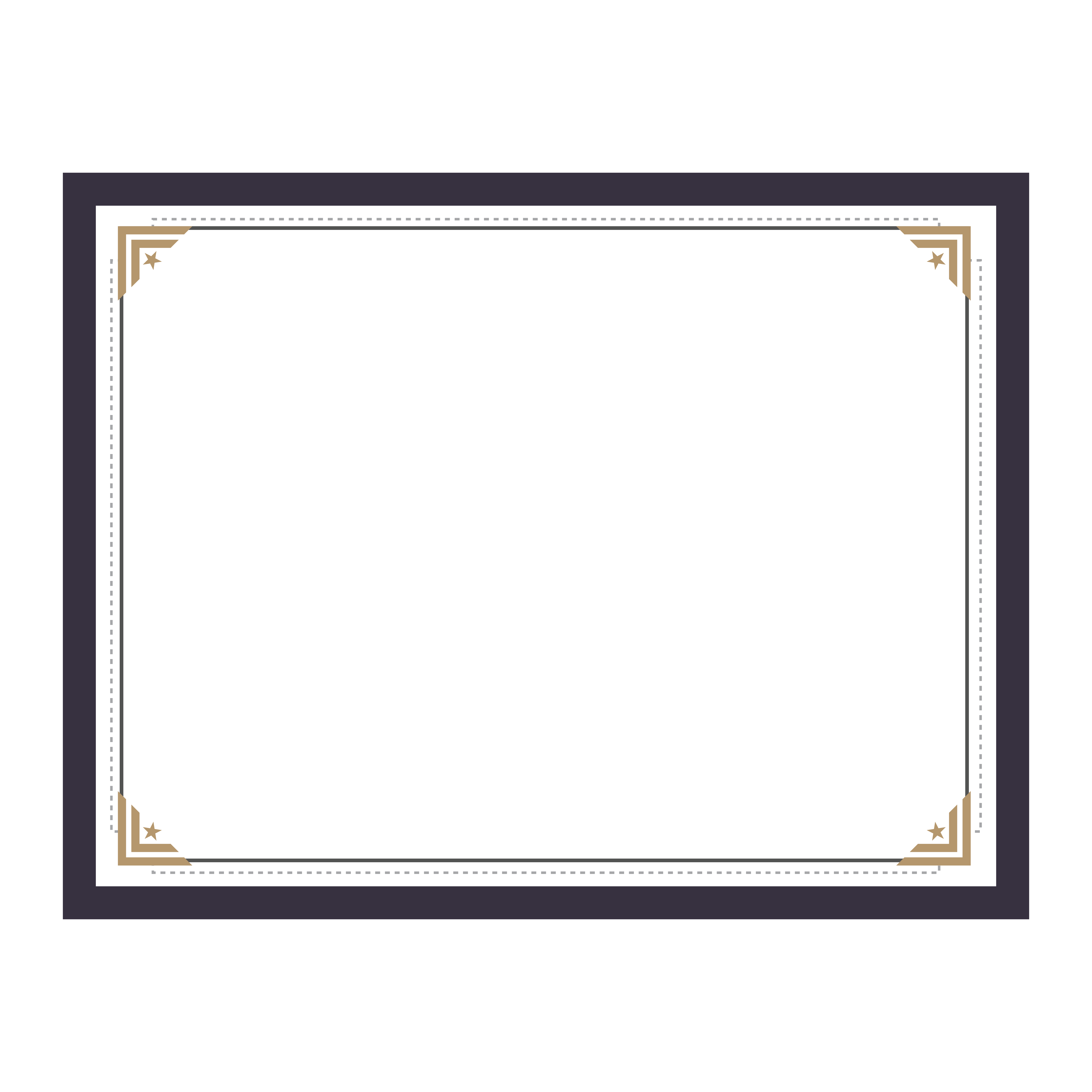 Certificate border design png. Text picture frame pattern