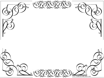 Certificate border png. Download template free transparent