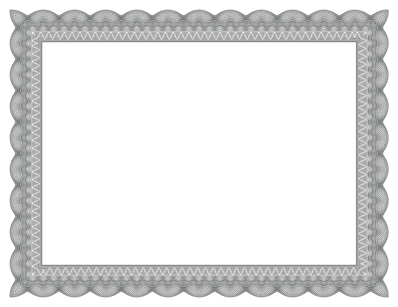 Certificate borders png. Formal border black