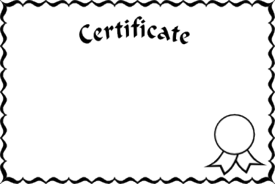 Certificate clipart awarded. Gift images gallery for
