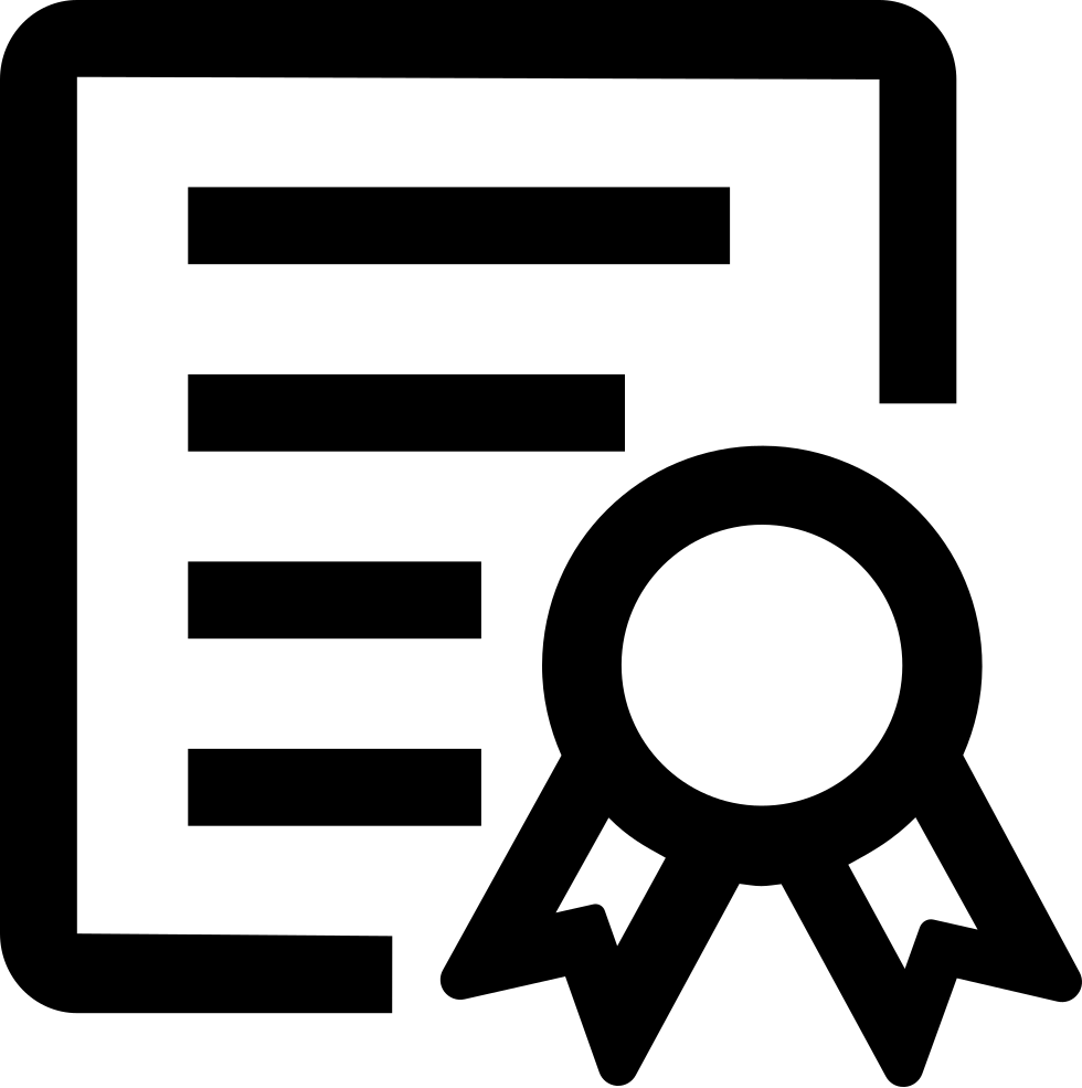 Certificate clipart certificate symbol. Of honor svg png