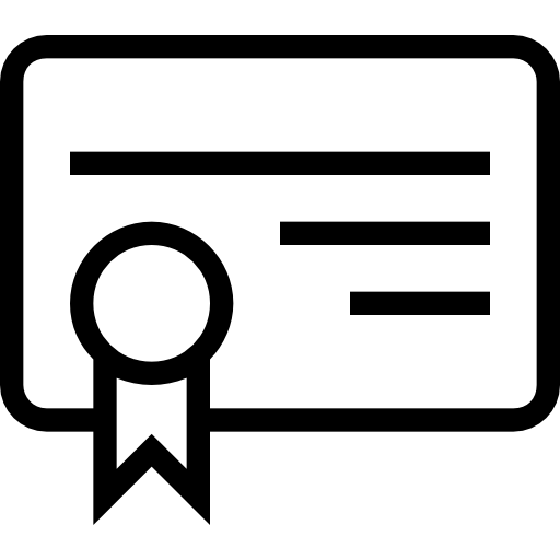 Certificate clipart certificate symbol. Of education outlined icons