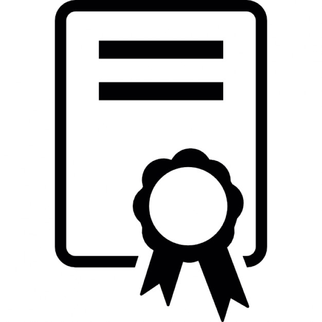 Certificate clipart certificate symbol. Ios interface icons free