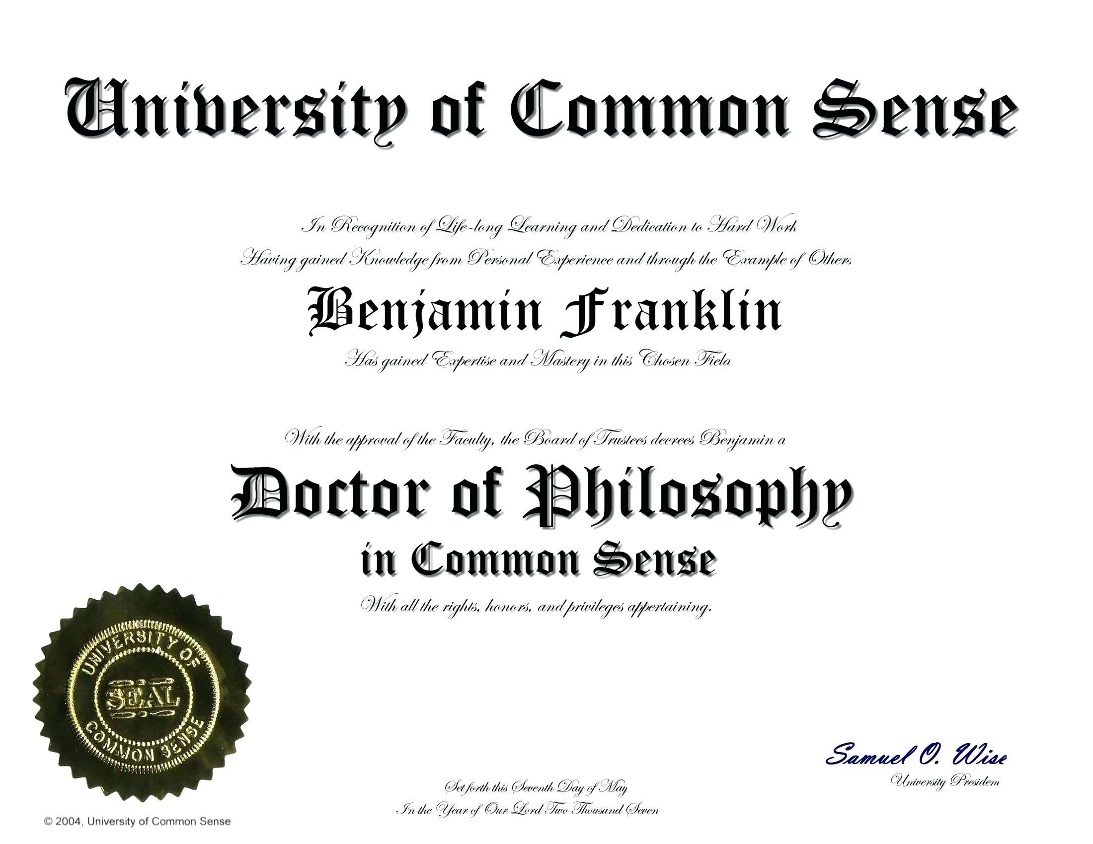Certificate clipart phd. Doctorate degree template manqal