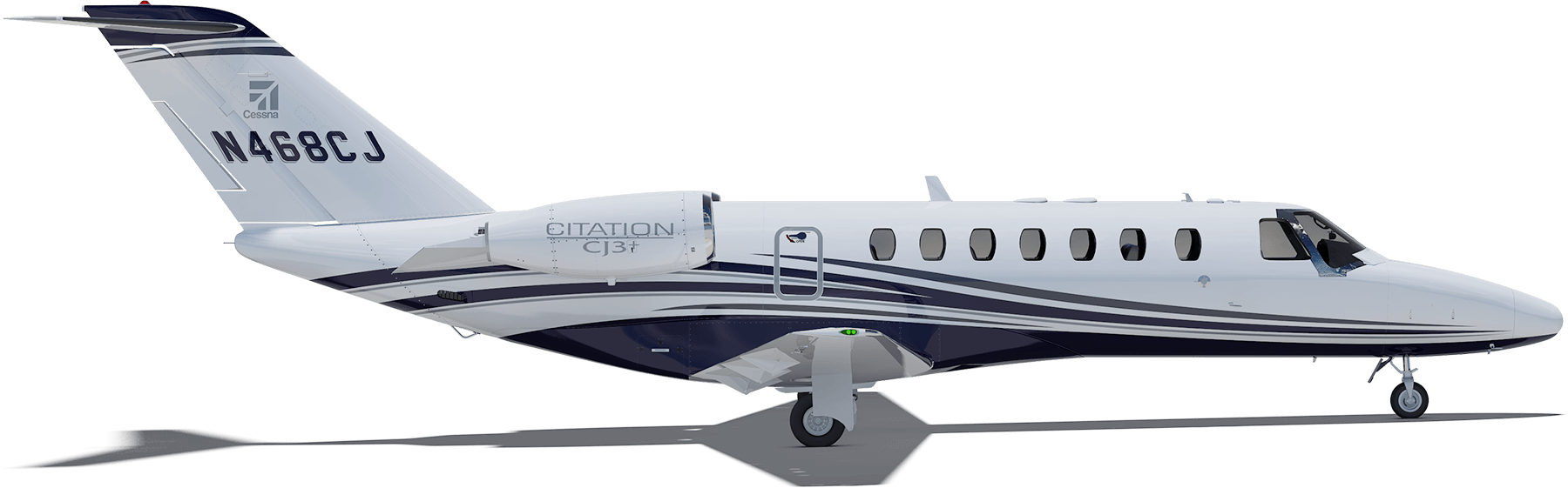 Cessna drawing profile. Citation cj height