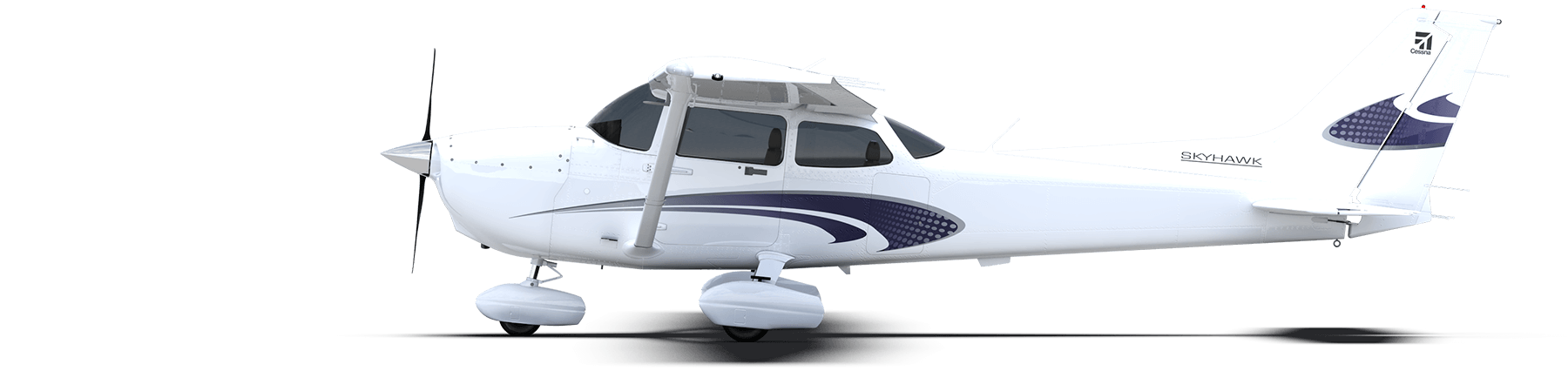Cessna drawing single engine plane. Skyhawk move your mouse