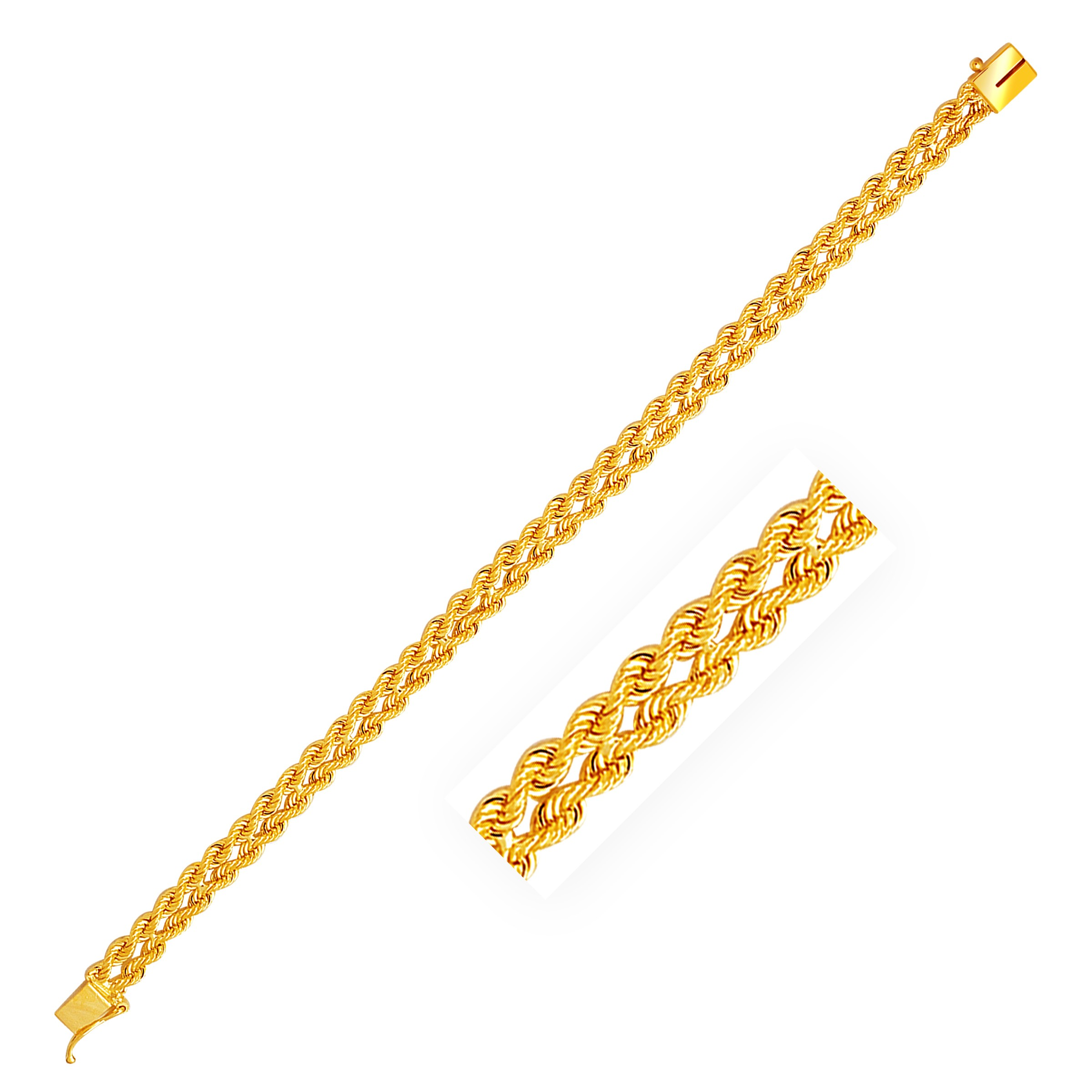 Chain clipart gold bracelet. Two row rope in