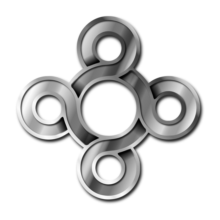Silver clip black metal. Brushed computer icons gold