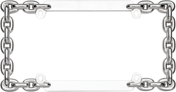 Chain frame png. Locking license plate cruiser