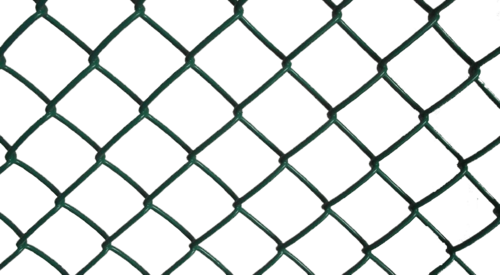 Chain link fence png transparent. Green vinyl coated shiva