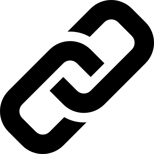 Transparent link symbol. Of two chains links